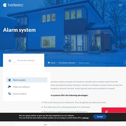 Alarm systems for private customers - Telsec ESS Schweiz