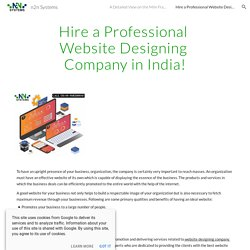 Hire a Professional Website Designing Company in India!