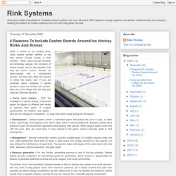 4 Reasons To Include Dasher Boards Around Ice Hockey Rinks And Arenas