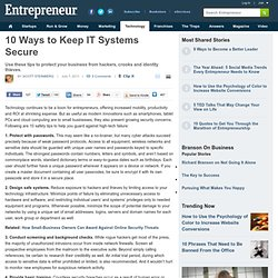 10 Ways to Keep IT Systems Secure