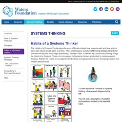 Habits of a Systems Thinker - Waters Foundation
