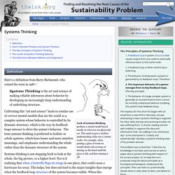 Systems Thinking - Tool/Concept/Definition