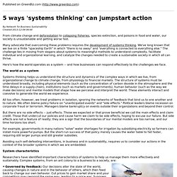 5 ways 'systems thinking' can jumpstart action