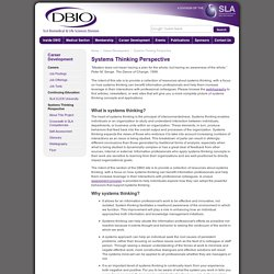 DBIO: Systems Thinking Perspective