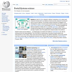 Portal:Systems science
