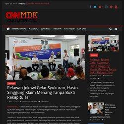 Relawan Jokowi Gelar Syukuran, Hasto Singgung Klaim Menang Tanpa Bukti Rekapitulasi