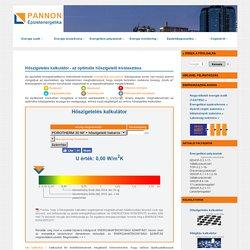 Hőszigetelés kalkulátor - Energetikai tanácsadás - Hőszigetelő megoldások