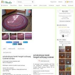 szivárványos kerek horgolt szőnyeg Lizának (Molylepke) - Meska.hu