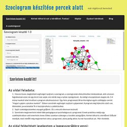 szociogram, portfólió, szociometria