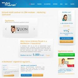 Hírlevél küldő szoftver és CRM rendszer
