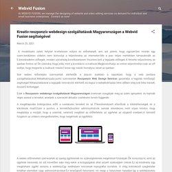 Kreatív reszponzív webdesign szolgáltatások Magyarországon a Webvid Fusion segítségével