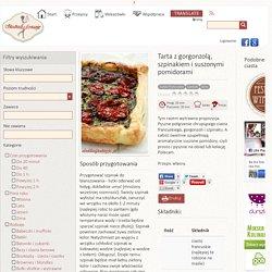 Tarta z gorgonzolą, szpinakiem i suszonymi pomidorami