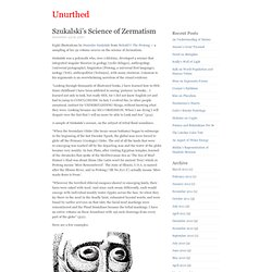 Szukalski's Science of Zermatism « Unurthed