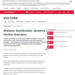 Wisława Szymborska: skromna i bardzo dowcipna - Kultura