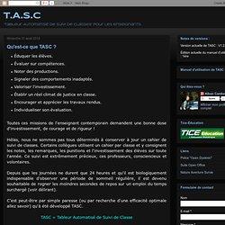 Qu'est-ce que TASC ?