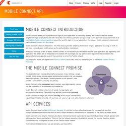 Mobile Connect API