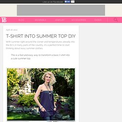 T-SHIRT INTO SUMMER TOP DIY