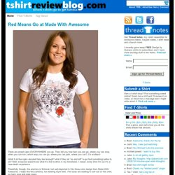 T-shirt Review Blog