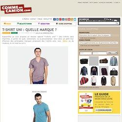 T-shirt Uni : quelle marque ?