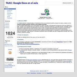 TAAC: Google Docs en el aula