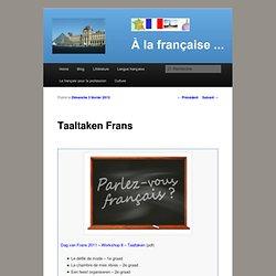 Taaltaken Frans