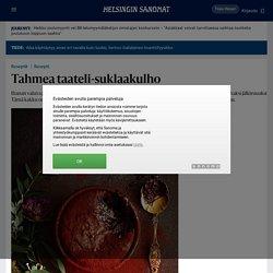 Tahmea taateli-suklaakulho - Reseptit