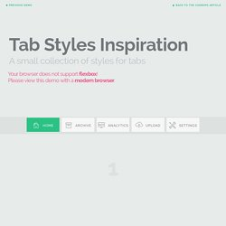 Tab Styles Inspiration