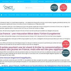 Le tabagisme chez les jeunes en France - CNCT