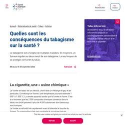 Tabagisme, conséquences sur la santé - Santé publique France