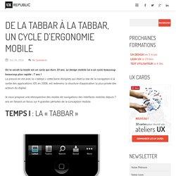 De la Tabbar à la tabbar, un cycle d'ergonomie mobile