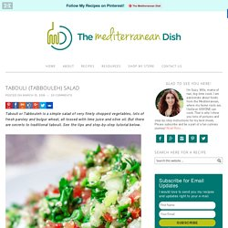 Tabouli (Tabbouleh) Salad Recipe - The Mediterranean Dish
