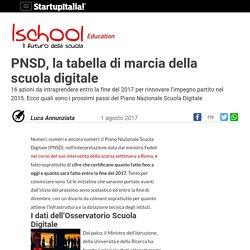 PNSD, la tabella di marcia della scuola digitale