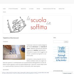 Tabelline Montessori