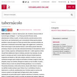 tabernàcolo in Vocabolario - Treccani