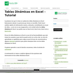 TABLAS DÍNAMICAS EXCEL - MEGA TUTORIAL