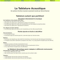 Tablature Acoustique de Gérard Charnoz