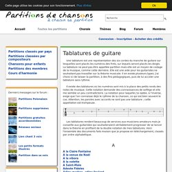 Tablatures de guitare