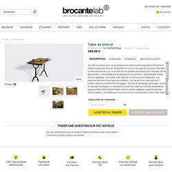 Table de bistrot - Bois et teck - Bon état - Classique