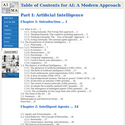 Table of Contents for AI: A Modern Approach