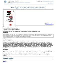 FAO - 1995 - Manuel pour les agents vétérinaires communautaires - Chapitre 7: Chameaux, lamas et alpagas