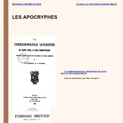 Les apocryphes