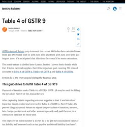How to fill the GSTR 9 explained table wise