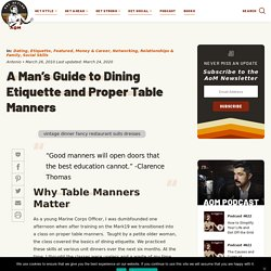 Table Manners and Dining Etiquette for Men