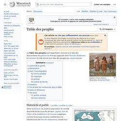 Table des peuples