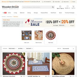 Table Mats: Shop Dining Table Mats Online @ Upto 55% OFF