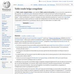 Table ronde belgo-congolaise