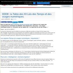 DDD8 : la Table des XII Lois des Temps et des usages numériques.