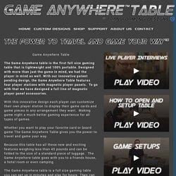 Game Table — TRANSFORMING DESIGNS INC.