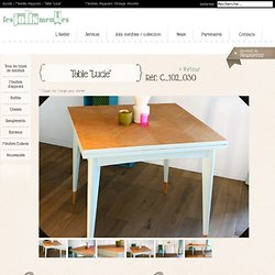 Table vintage pliante Lucie