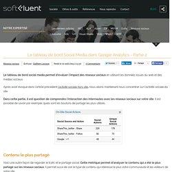 Le tableau de bord Social Media dans Google Analytics - Partie 2